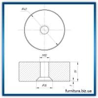 Дистанція 20 мм для коннектора діаметром 40 мм