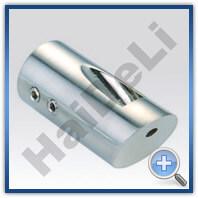 Крепление трубы стена-стекло, HDL